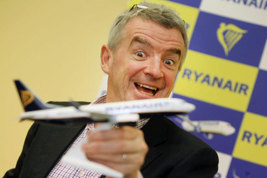 """Ryanair"" vadovas Michaelis O'Leary"