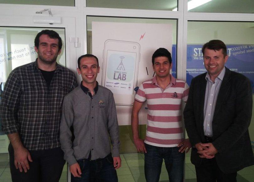 Ramūnas Keliuotis (d.) su Turkijos studentais