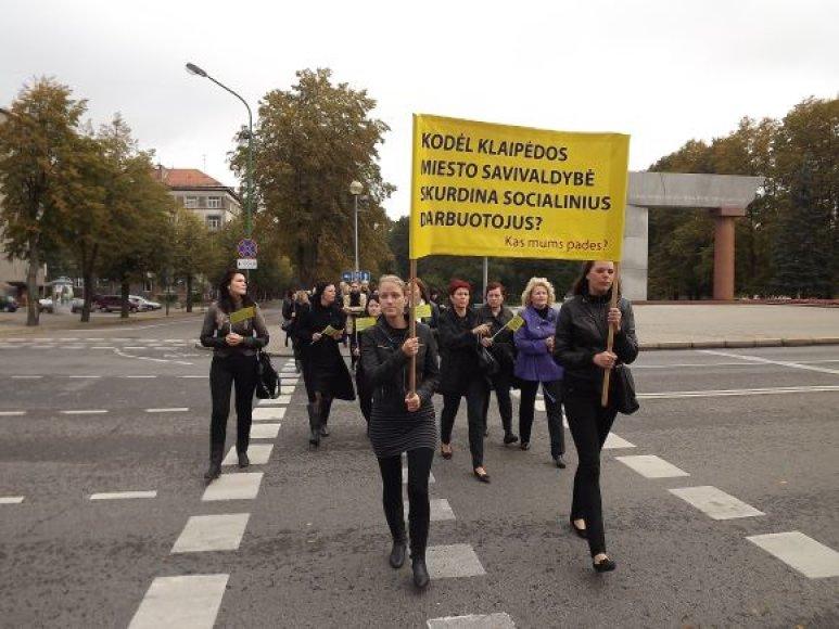 Klaipėdos socialiniai darbuotojai jaučiasi menkinami.