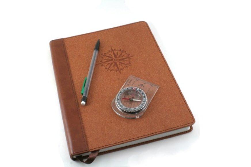 Kelionių užrašams vesti svarbu įsigyti tinkamą knygą