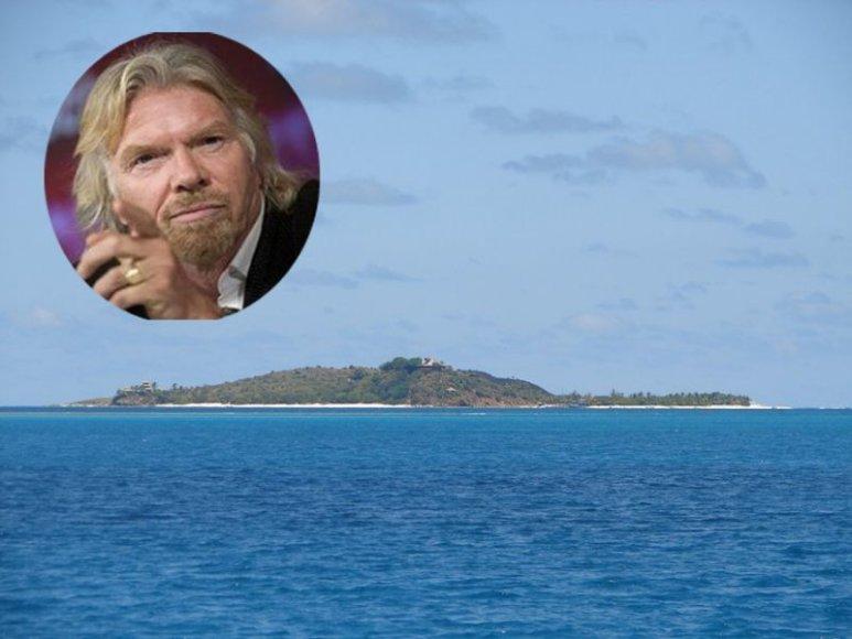 Žymusis britų milijardierius Richardas Bransonas 1970 metais nusipirko Nekerio salą Britų salyne, Karibų jūroje, tik už pusę milijono litų. Dabar ši sala nuomojama turtingiesiems už 120 tūkst. litų nakčiai.