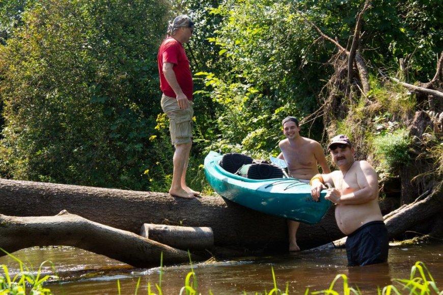 Kliūtys Musės upėje