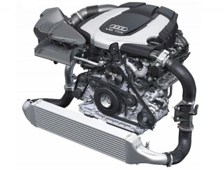 """""""Audi"""" pristatė """"Biturbo"""" dyzelinį variklį"""