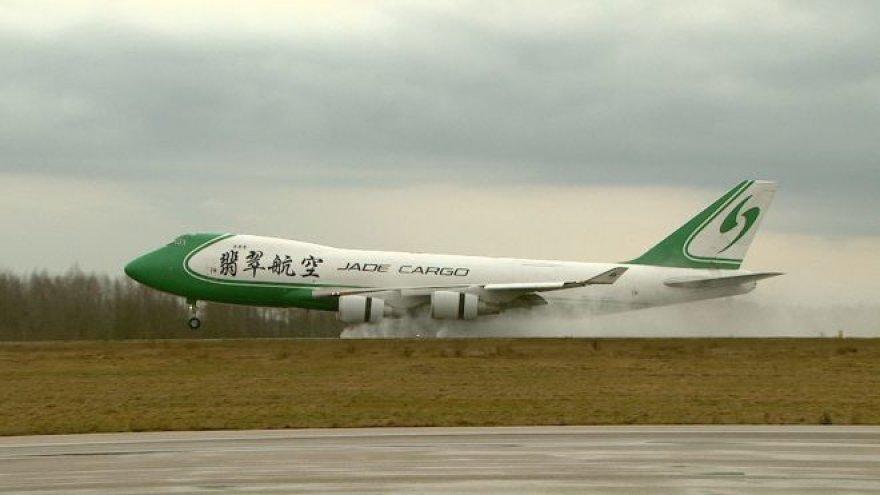 """Boeing 747-400"" Kauno Karmėlavos oro uoste"