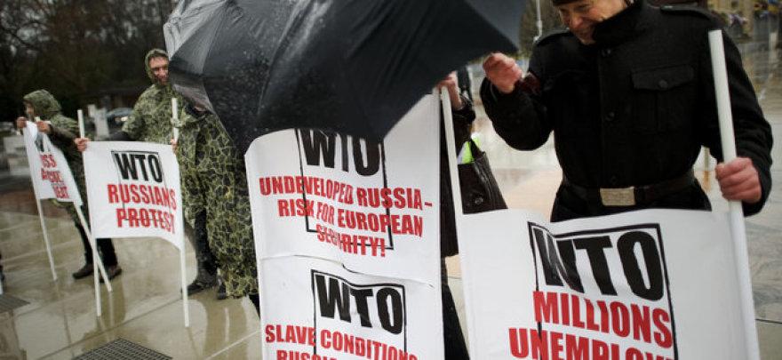 Россияне протестуют против вступления в ВТО