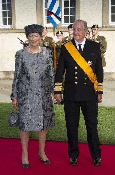 Король Бельгии Альберт II с королевой Паолой