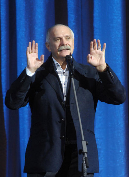 ITAR-TASS 218: MOSCOW, RUSSIA. NOVEMBER 3, 2009. Director Nikita Mikhalkov speaks during the celebrations to mark the 90th anniversary of the All-Russia State Institute of Cinematography at the State Kremlin Palace. (Photo ITAR-TASS / Valery Sharifulin)