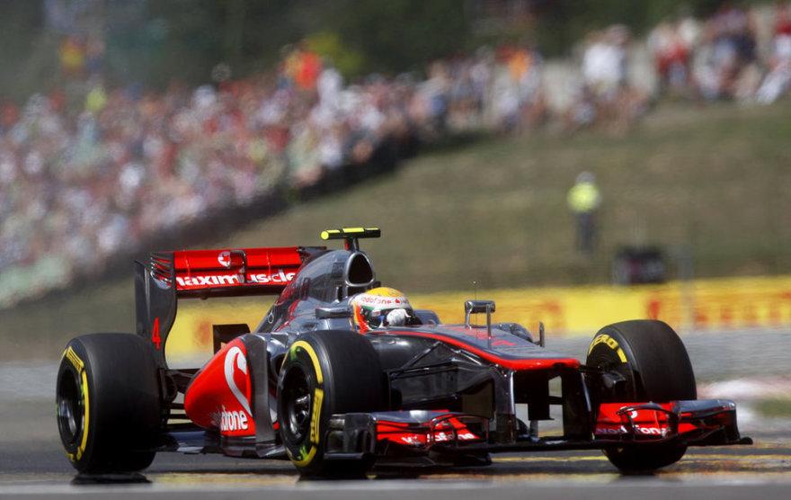 Льюис Хэмилтон на Гран-при Венгрии.