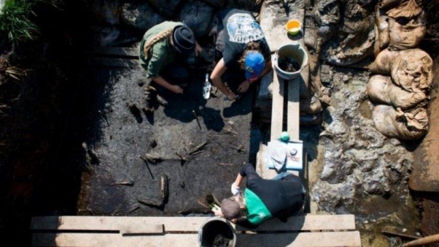 Pelkėje netoli Elektrėnų rasto beveik 2 tūkst. metų senumo žmonių kaulai ir stiklo karolių vėrinys