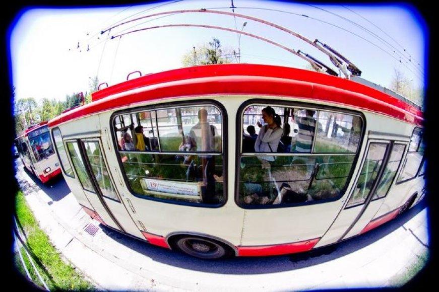 Общественный транспорт в Вильнюсе.