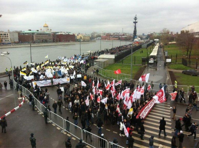 В центре Москвы собрались националисты, неонацисты и прочие фашисты.