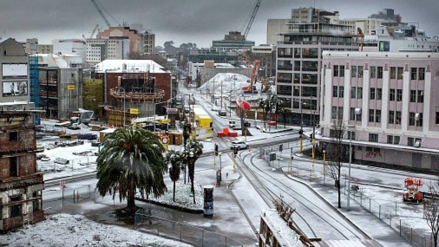 На Новую Зеландию обрушилась снежная буря