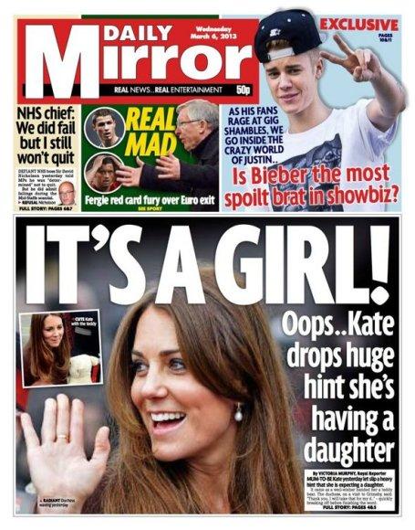 """Laikraščio """"Daily Mirror"""" viršelis"""