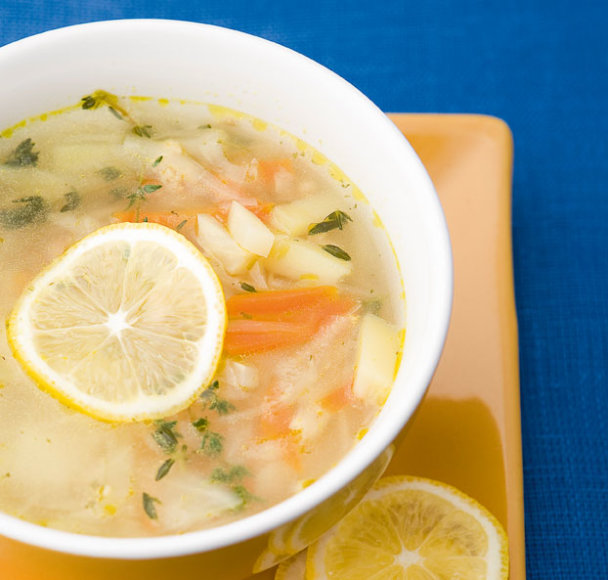 Citrininė kopūstų ir sojų sriuba