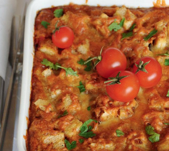 Pomidorų ir baklažanų apkepas