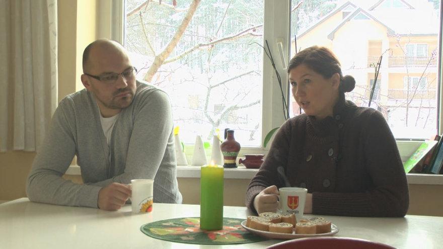 Kristina Pikūnė su vyru Mindaugu