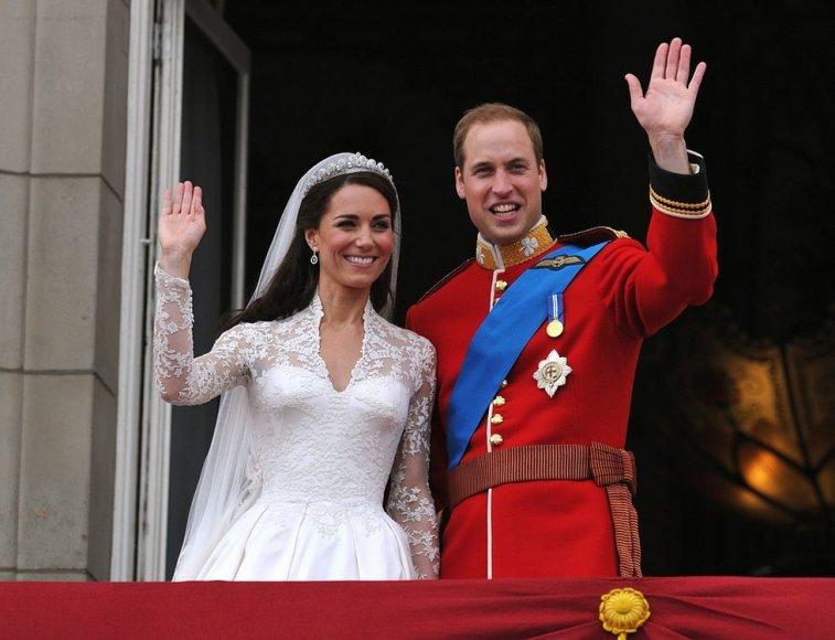 Princo Williamo ir Catherine Middleton vestuvių akimirka