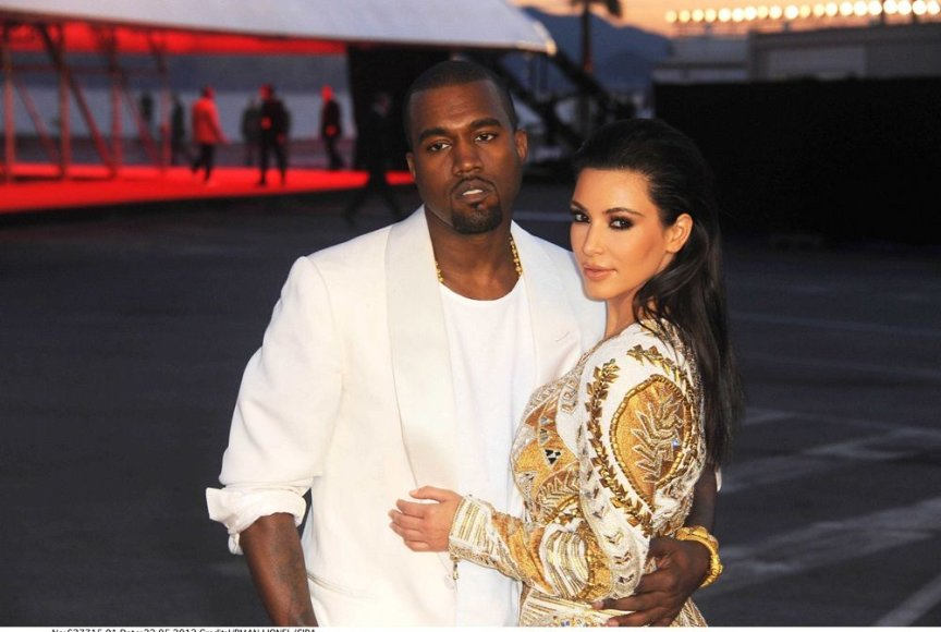 Kanye Westas ir Kim Kardashian Kanų kino festivalyje