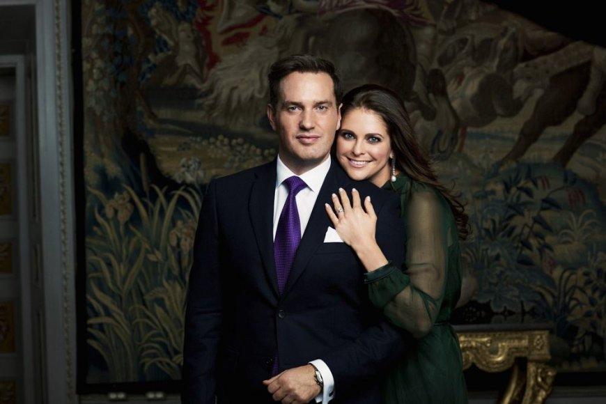 Švedijos princesė Madeleine su sužadėtiniu Christopheriu O'Neillu
