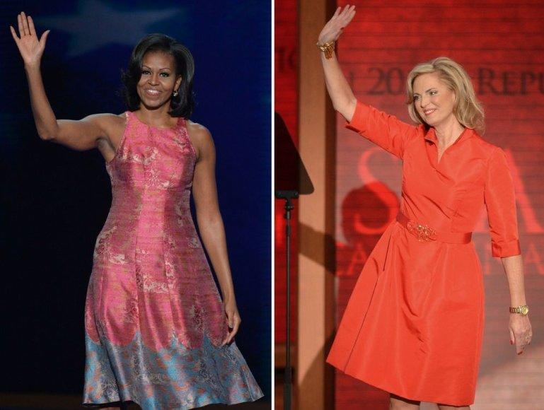 Michelle Obama (kairėje) ir Ann Romney