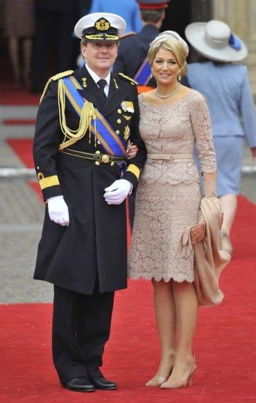 Nyderlandų princas Willemas Alexanderis su žmona, princese Maxima