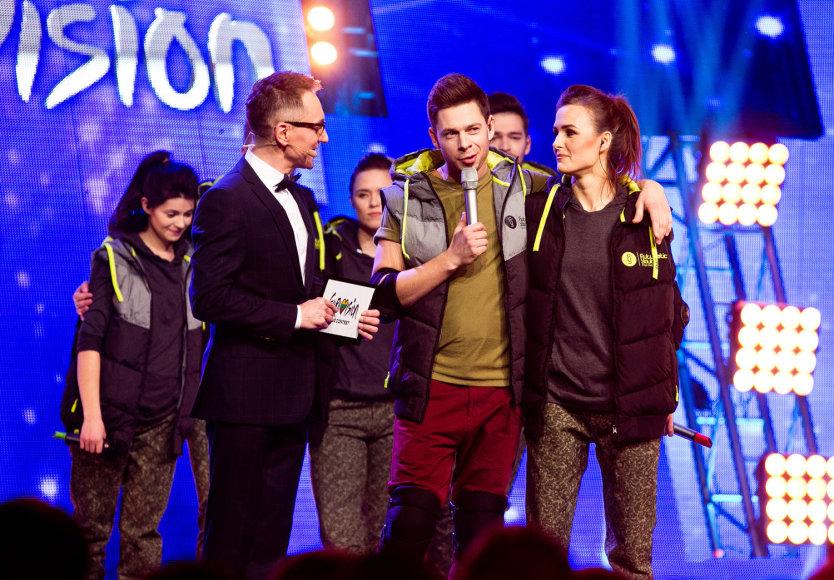 """Gretos Skaraitienės/Žmonės.lt nuotr./Pirmosios """"Eurovizijos"""" atrankos laidos akimirka"""