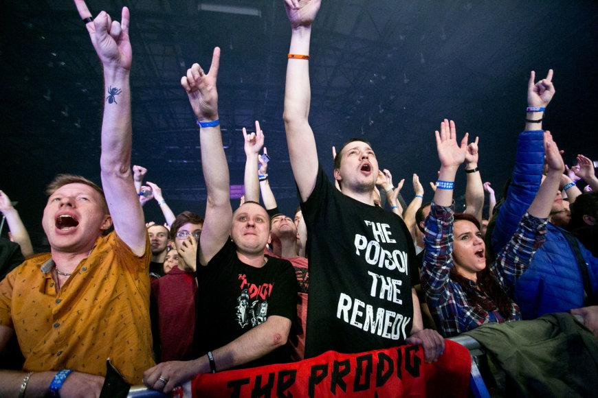 "Gretos Skaraitienės/Žmonės.lt nuotr./""The Prodigy"" koncerto Vilniuje akimirka"