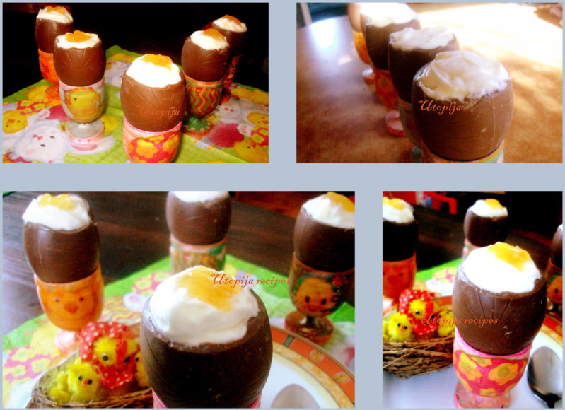 Desertiniai šokoladiniai kiaušiniai