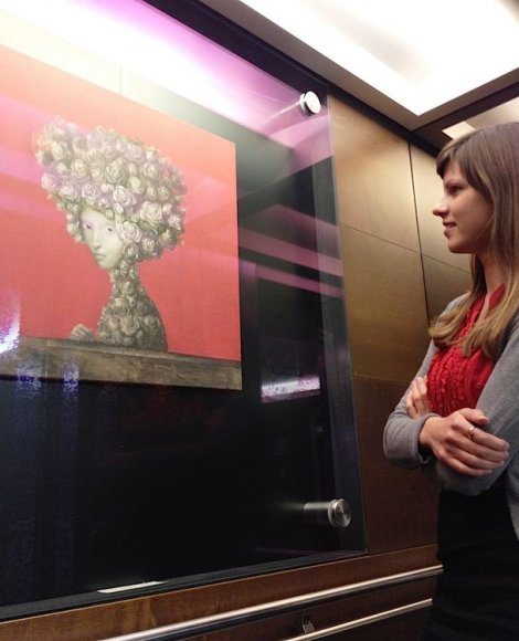Paroda Europos Komisijos liftuose