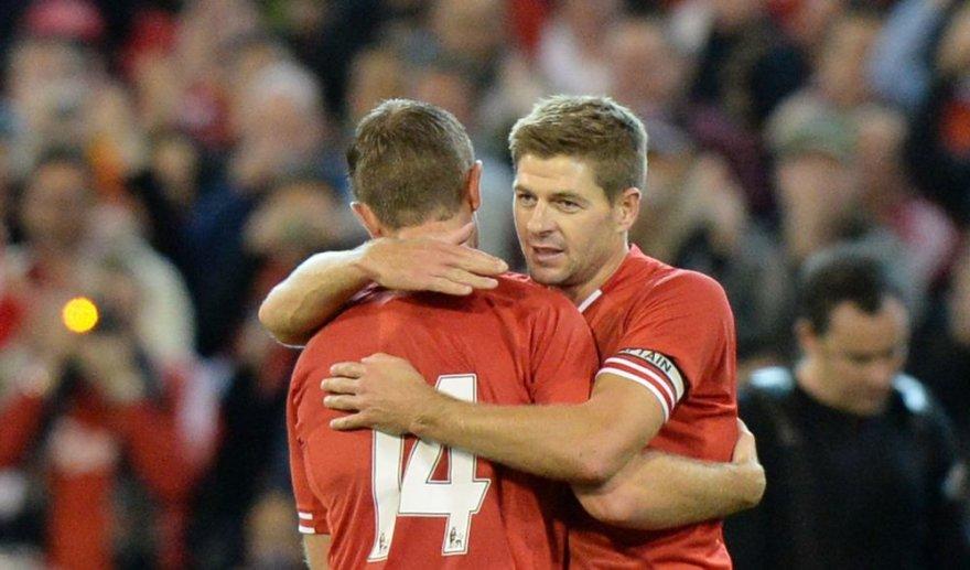 Jordanas Hendersonas ir Stevenas Gerrardas