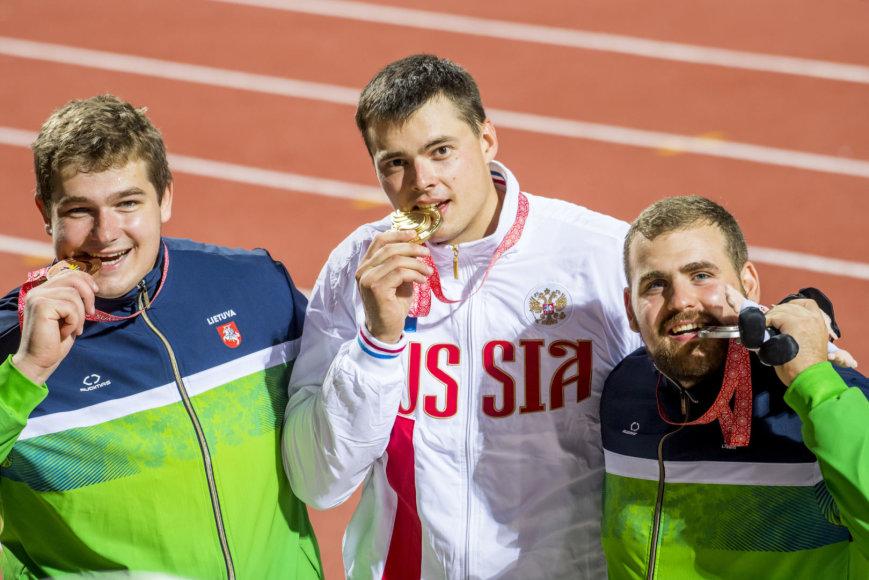 Augusto Četkausko nuotr./Mindaugas Jurkša, Dimitrijus Kalmykovas ir Vytenis Ivaškevičius