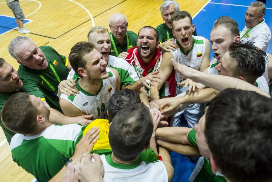 Augusto Četkausko nuotr./Lietuvos kurčiųjų krepšinio rinktinės triumfas