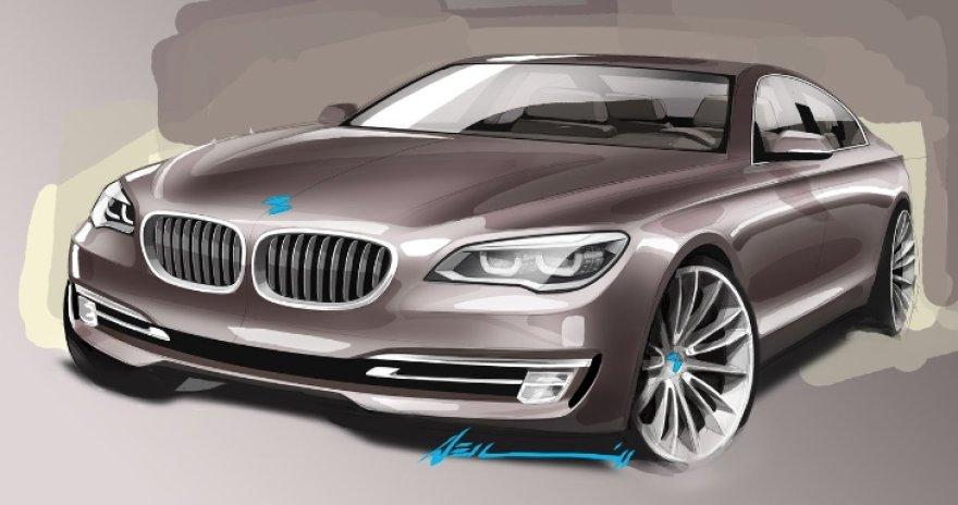 Būsimos naujosios kartos BMW 7 serijos eskizas