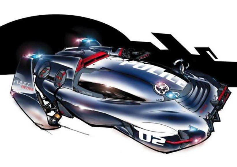 Ateities policijos automobilio vizija