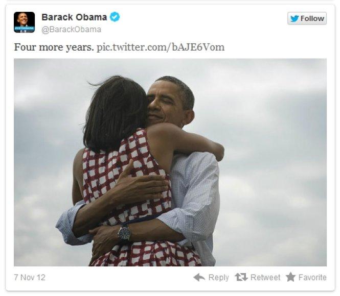 "Baracko Obamos žinutė ""Twitter"""