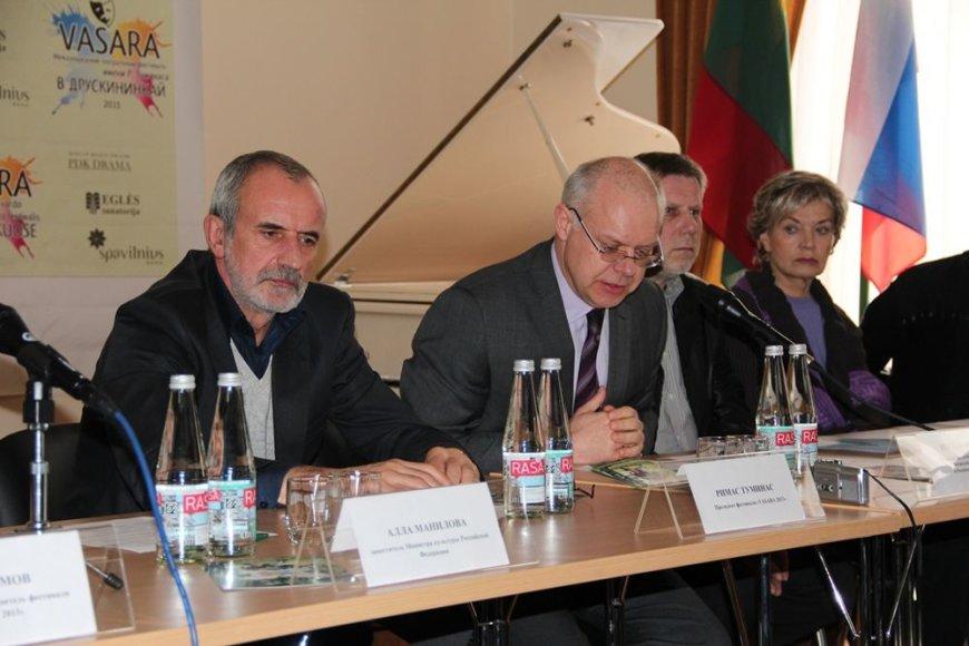 Maskvoje vykusi spaudos konferencijoa