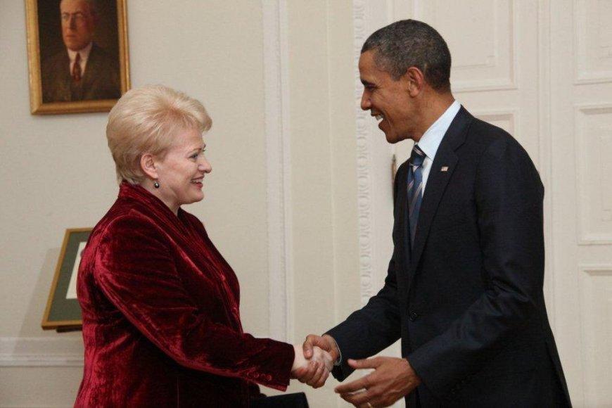 Dalia Grybauskaitė su Baracku Obama 2011 metais