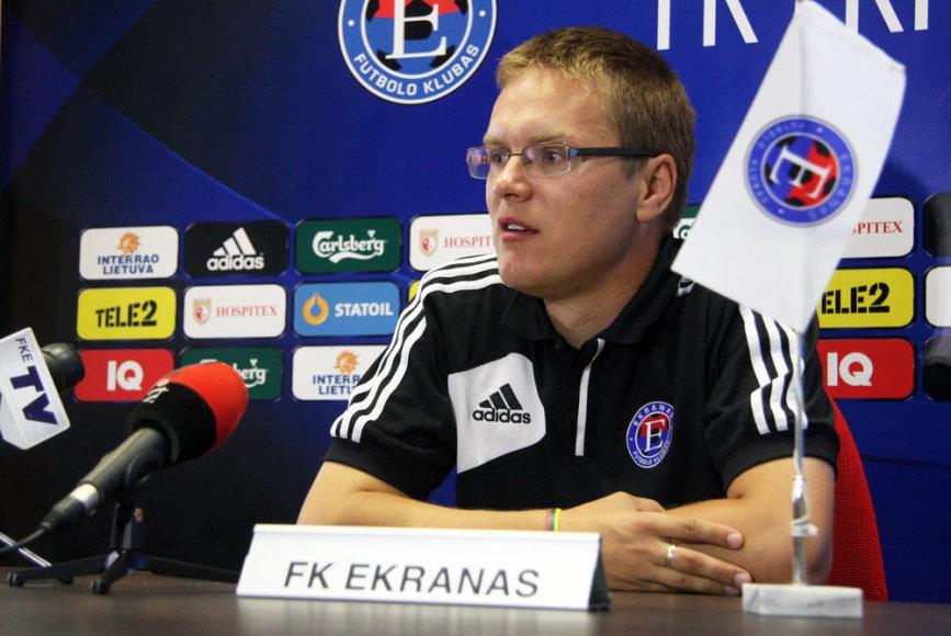 """""""Ekrano"""" treneris Valdas Dambrauskas."""
