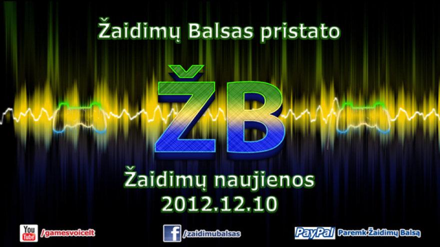 """Žaidimų naujienos 2012.12.10 """"Žaidimų Balsas"""""""