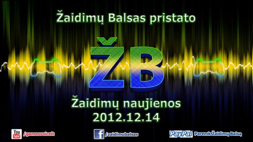 """Žaidimų naujienos 2012.12.14 """"Žaidimų Balsas"""""""