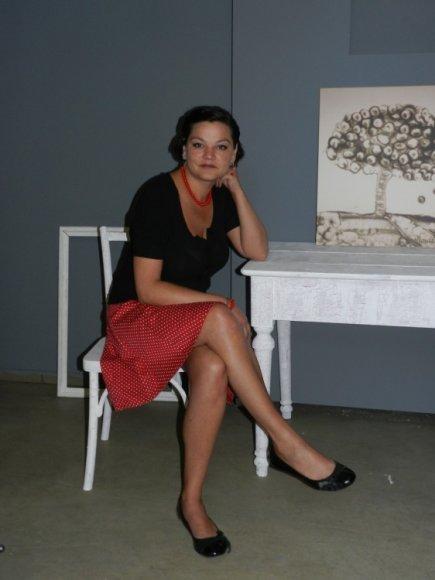 Smėlio menininkė Jurgita Minderytė