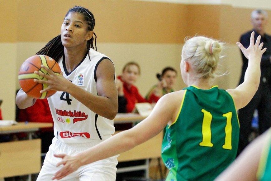 """Vilniaus """"Kibirkšties-VIČI-IKI"""" moterų krepšinio klubas atsisveikino su legioniere iš Jungtinių Amerikos valstijų Celeste Trahan-Davis."""