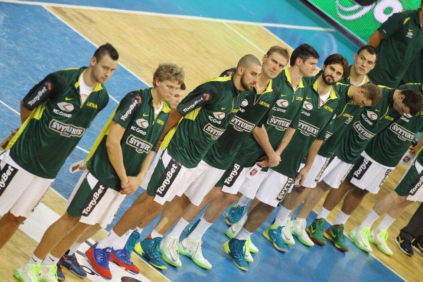 Lietuvos krepšinio rinktinė – prieš mačą su Graikijos komandą