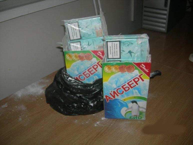 Paslėptos kontrabandinės cigaretės