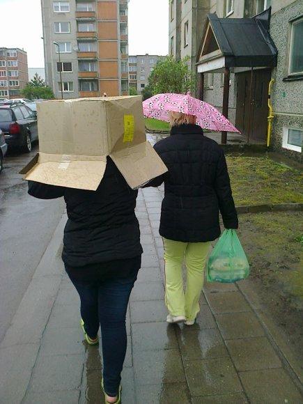 Apsauga nuo lietaus.