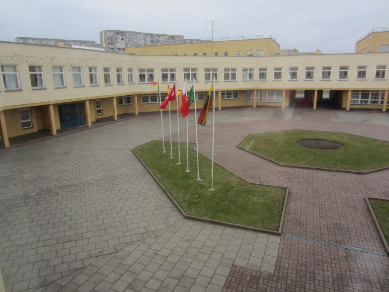 Susitikimo Lietuvoje metu, kieme vejyje plasdeno visų projekto šalių vėliavos