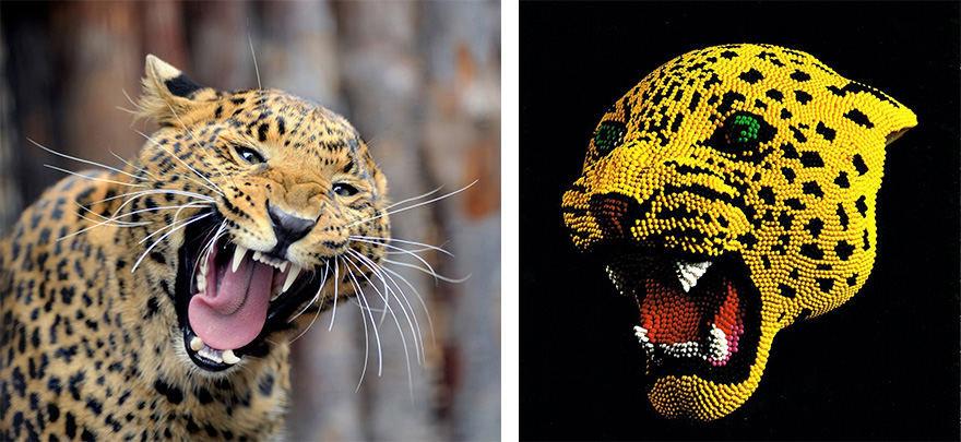 Projekto partnerio nuotr./Leopardas / David Mach
