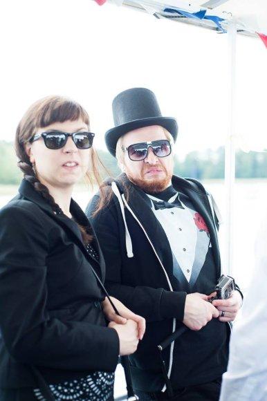 Asmeninio albumo nuotr./Giedrė ir Mykolas Pleskai