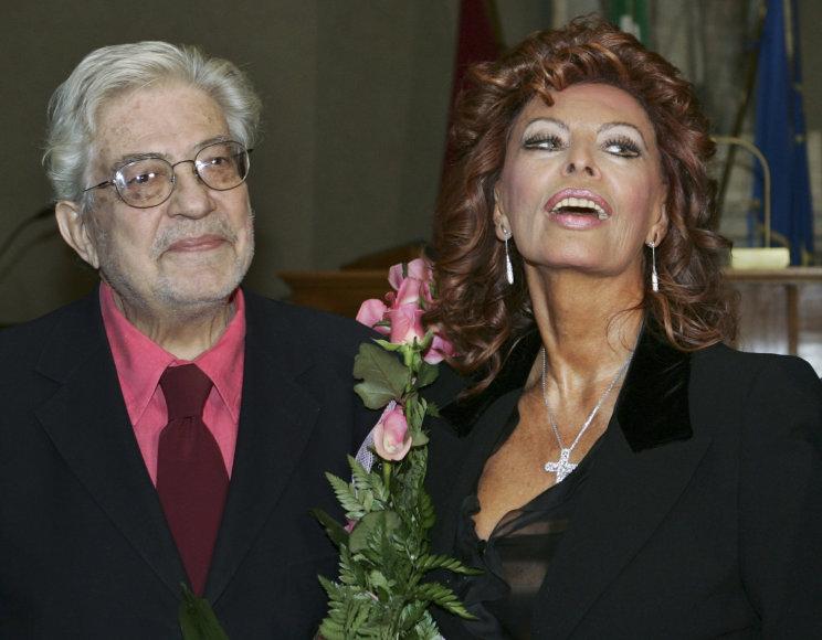 """Scanpix"" nuotr./Ettore Scola ir Sophia Loren"