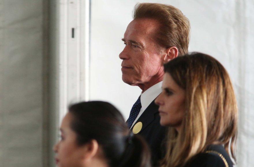 """Scanpix"" nuotr./Arnoldas Schwarzeneggeris ir Maria Shriver"